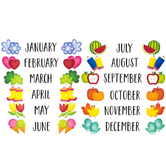 Creative Teaching Press, 3D Pop Months of the Year Mini Bulletin Board Set, Multi-Colored, 12 Pieces
