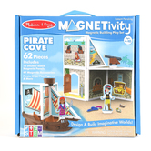 Melissa & Doug, Magnetivity Pirate Cove Magnetic Building Play Set, 62 Pieces, Ages 4 to 10