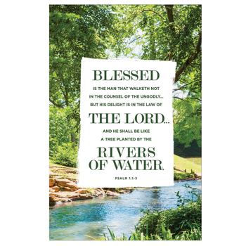 Salt & Light, Blessed Is The Man Church Bulletins, 8 1/2 x 11 inches Flat, 100 Count