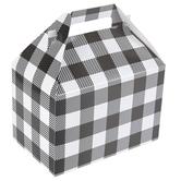 Brother Sister Design Studio, Buffalo Check Gable Box, Black & White, 9 x 8 x 5 inches