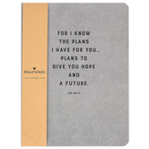 Christian Brands, Jeremiah 29:11 For I Know The Plans Journal, Gray, 6 1/2 x 8 3/4 x 3/4 inches