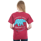 Beautifully Blessed, Joshua 1:9, Be Courageous, Women's Short Sleeve T-Shirt, Crimson, S-2XL