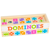 Melissa & Doug, Dominoes Game, Wood, 28 Pieces, 3 x 8 x 2 1/4 inches, Ages 4 & Older