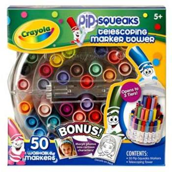 Crayola Telescoping Marker Tower Case, 50 Pip Squeaks Markers