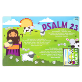Salt & Light Kids, Psalm 23 Learning Mat, Plastic, 11 1/2 x 17 1/2 Inches, Ages 4 & Older
