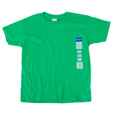 Gildan, Short Sleeve T-Shirt, Irish Green, Youth Extra Small - Large, Pre-Shrunk Cotton, Youth XS-L