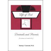Life Of Fred Decimals and Percents, Stanley F Schmidt PhD, Hardcover, 192 Pages, Grades 6-8