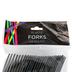 Brother Sister Design Studio, Plastic Forks, Black, Set of 24