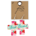Bella Grace, Blessed Cross-Shaped Floral Pattern Dangle Earrings, Zinc Alloy, Red, Pink, and White