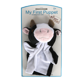 The Puppet Company, My First Puppets Cow, White and Black, 12 1/4 x 6 1/4 x 2 3/4 inches