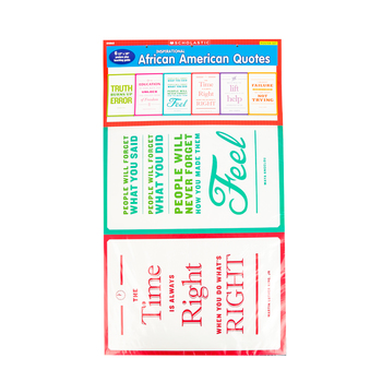 Scholastic, African American Quotes Bulletin Board Set, 6 Pieces