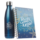 Christian Art Gifts Be Still and Know Water Bottle and Journal Boxed Gift Set, 2-Pieces