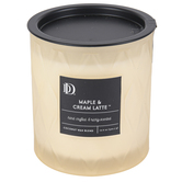 Darsee & Davids, Maple & Cream Latte Diamond Patterned Jar Candle, Cream, 10.6 ounces