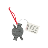 Abbey and CA Gift, Wonderful Teacher Car Charm, 2 x 2 inches