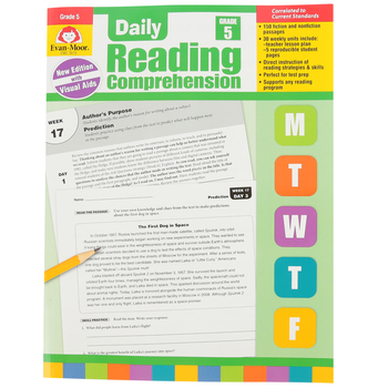 Evan-Moor, Daily Reading Comprehension Grade 5, Paperback, 208 Pages, Grade 5
