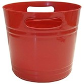 Brother Sister Design Studio, Bucket With Cut-Out Handle, Red, Plastic, 9.87 x 8.12, 1 Each
