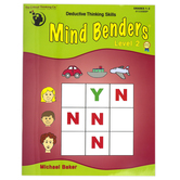 Critical Thinking Company, Mind Benders Level 2 Book, Reproducible Paperback, 64 Pages, Grades 1-2