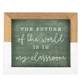 Future Of The World Wall Decor, Wood, Brown and White, 6 x 7 x 5/8 inches
