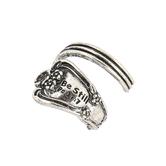 Modern Grace, Psalm 37:7 Silver Spoon Adjustable Ring, Zinc Alloy, Antique Silver