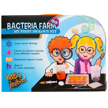 Heebie Jeebies, Bacteria Farm: My First Biology Kit, 14 Pieces, Ages 6 and up