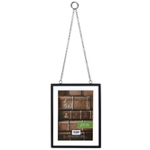 Green Tree Gallery, Black Metal Photo Frame with Chains, 8 1/2 x 6 5/8 x 1/2 inches