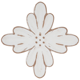 Rustic Wall Flower, MDF, Multiple Colors Available, 5 3/4 x 5 3/4 inches