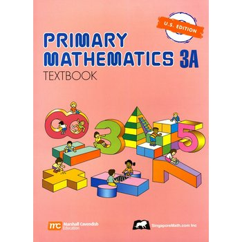 Singapore Math, Primary Math Textbook 3A, U.S. Edition, Paperback, 104 Pages, Grades 3-4
