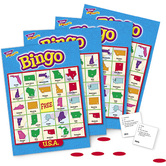 Trend, U.S.A. Bingo Game, Ages 8 Years and Older, 3 to 36 Players