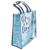 Sing to the Lord Tote Bag, Psalm 96:1, 15 x 14 Inches