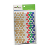 Renewing Minds, Foil Stars Mini Incentive Stickers, Assorted Colors, Pack of 1050