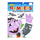 Sesame Street, Numbers Write and Wipe Preschool Workbook, Paperback, 7 Pages, Ages 3-5