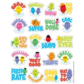 Eureka, Jelly Beans Scented Stickers, 1 x 1 Inch, Multi-Colored, Pack of 80