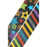 Chalk Talk Collection, Wide Double-Sided Border Trim, 38 Feet, Stars and Stripes