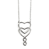 Divinity Boutique, Sisters Heart Necklace, Silver, 16 inches
