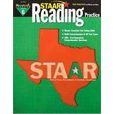 Newmark Learning, STAAR Reading Practice: Grade 6, 8.5 x 11 Inches, Paperback, 144 Pages
