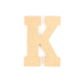 Woodpile Fun, MDF Natural Wood Color Letter - K, 5 inches, Brown