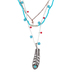 Wildflower Road, Faith Feather Multi Strand Beaded Necklace, 20 inches