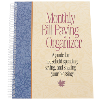 Product Concept Manufacturing, Monthly Bill Paying Organizer, Spiral, 10 x 8 inches, 24 pages