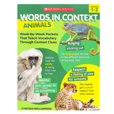 Scholastic, Words In Context Animals Activity Book, 128 Pages, Grades 1-2
