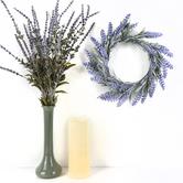 Bella Vita, Artificial Lavender Mini Wreath, Plastic, Lavender and Green, 11 inches
