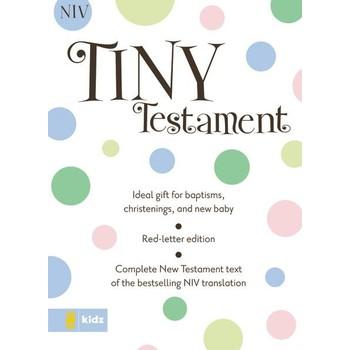 NIV Tiny Testament Bible, Imitation Leather, White