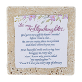 Product Concepts, Stepdaughter Sentiment Plaque Tile, Multi-Colored, 4 x 4 Inches