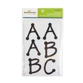 Renewing Minds, Dots Uppercase Letters & Numbers Stickers, Black, 2 inches, Pack of 82