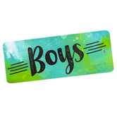 Retro Chic Collection, Boys Hall Pass, 3 x 6 Inches, Multi-Colored