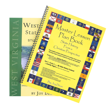 A Helping Hand, State History from a Christian Perspective W. Virginia Set, Grades 3-12