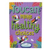 Carson-Dellosa, One World Toucan Make Healthy Choices Poster, Multi-Colored, 14 x 19 Inches