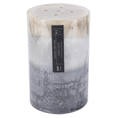 Winfield Home Decor, City Loft Pillar Candle, Gray & White, 3 3/4 x 6 inches