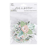 the Paper Studio, Stickabilities, Pastel Flower and Wreath Stickers, 4 Each of 6 Designs