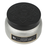 Darsee & David's, Vintage Luxe Tin Candle, Silver and Black, 3.98 ounces