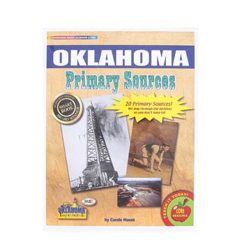 Gallopade, Oklahoma Primary Sources, by Carole Marsh, Card Stock, 20 Documents, Grades 3-12